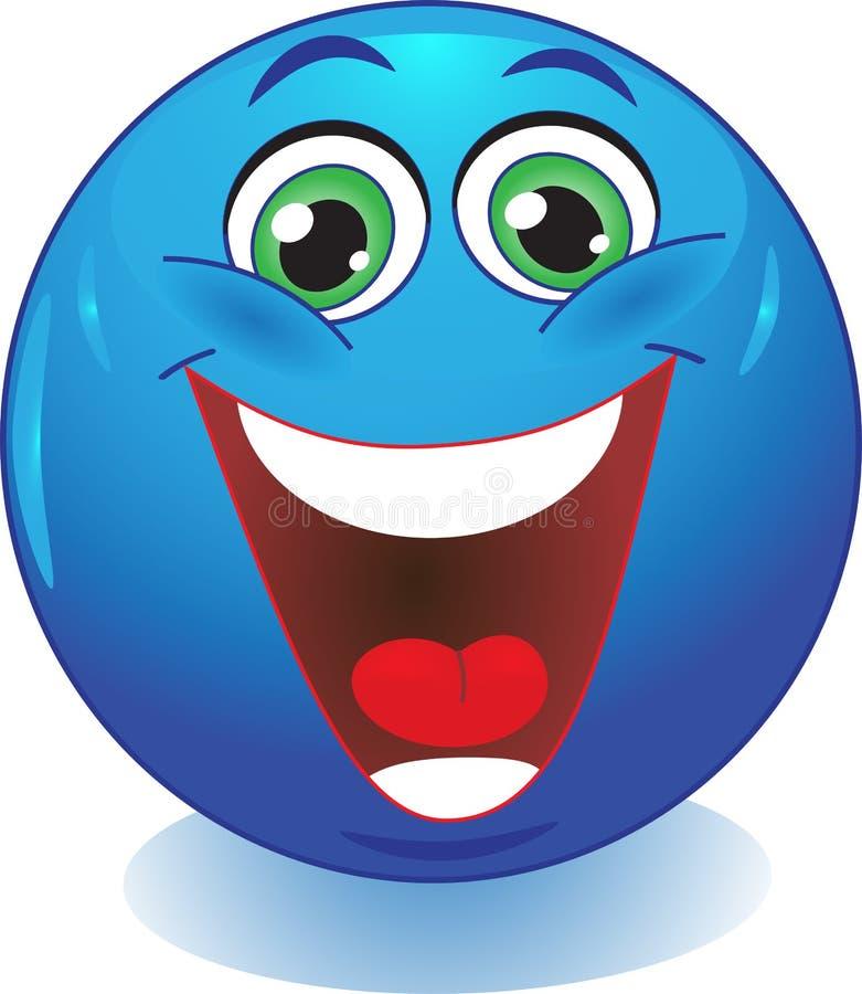 Smiley riant. illustration libre de droits