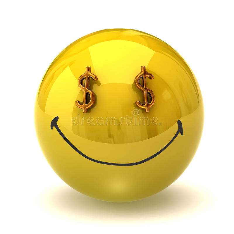 Smiley ricco illustrazione di stock