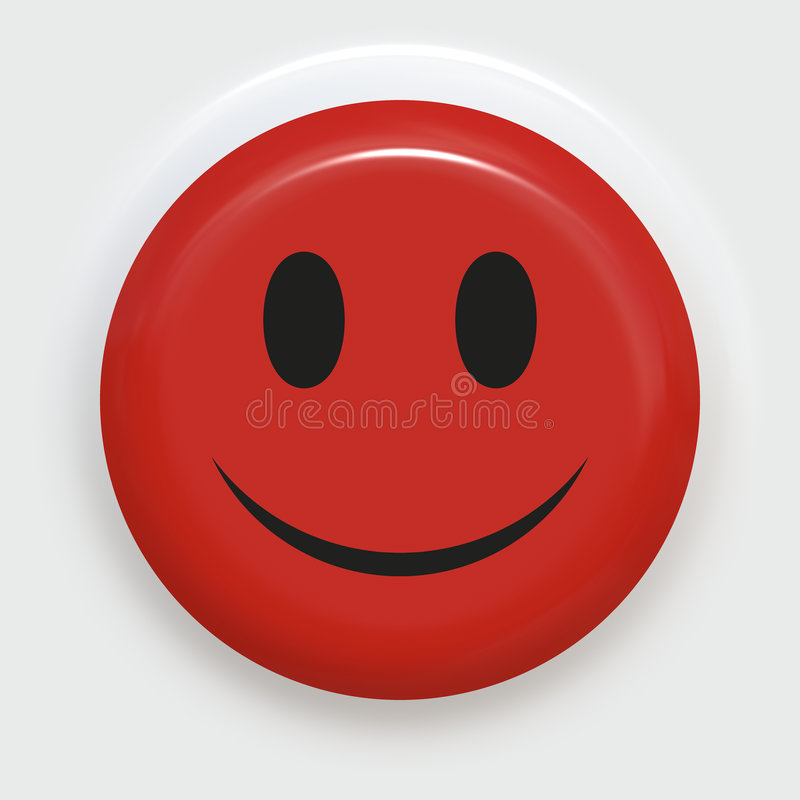 foto de Smiley rouge illustration stock Illustration du bouton 2473485