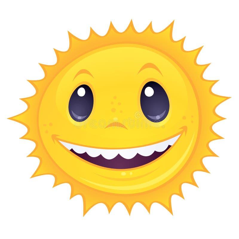 smiley słońce ilustracji