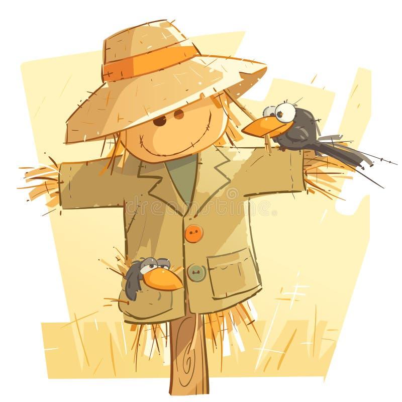 Smiley Scarecrow aimable illustration de vecteur
