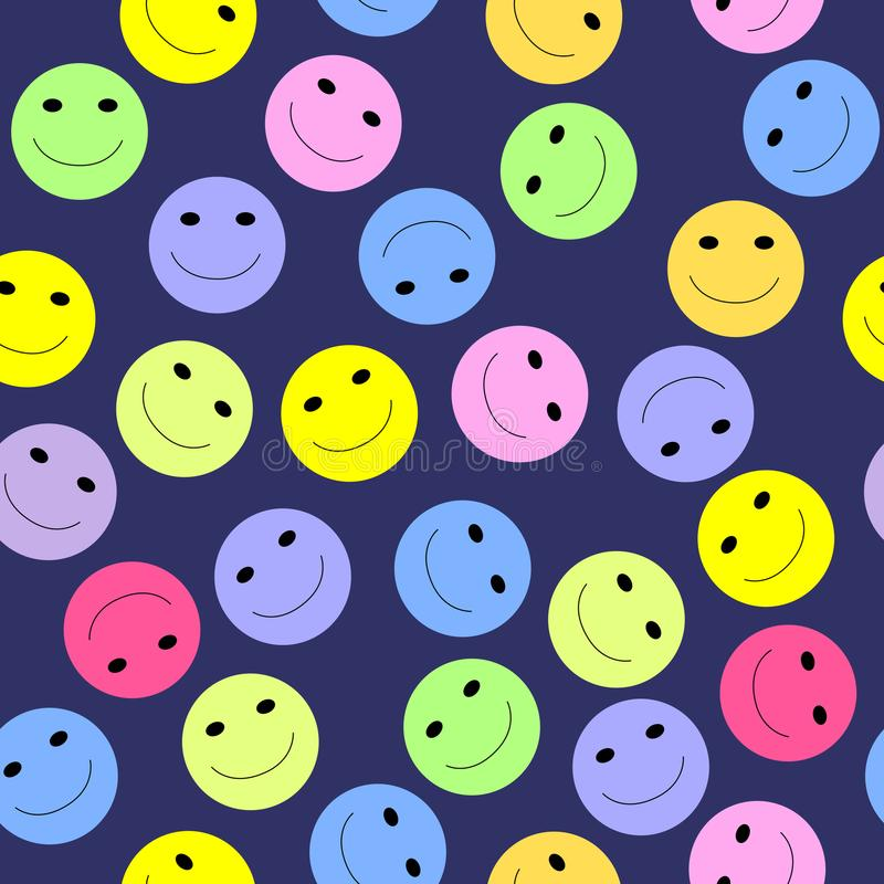 Smiley Seamless Stock Vector. Illustration Of Smile, Mouth