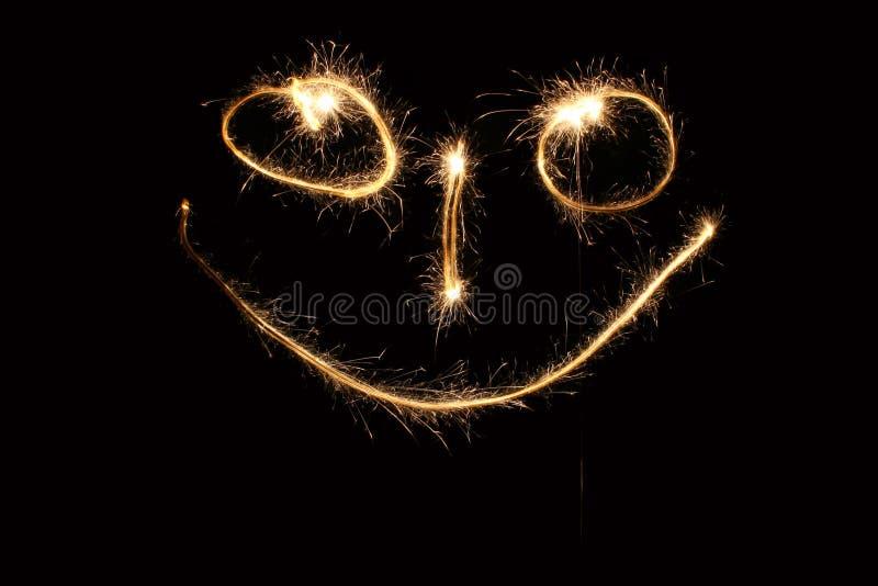 smiley sparkler στοκ φωτογραφίες με δικαίωμα ελεύθερης χρήσης