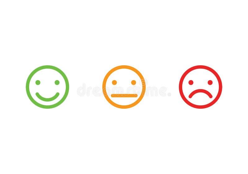 Smiley stellt Ikonen gegenüber stock abbildung