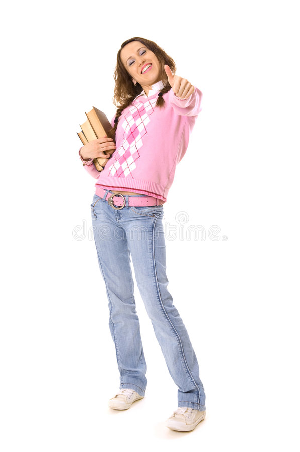 Download Smiley Student Showing Thumbs Up Stock Photo - Image: 5170798