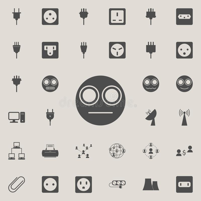 Smiley in a stupor icon. Detailed set of Minimalistic icons. Premium quality graphic design sign. One of the collection icons fo. R websites, web design, mobile vector illustration