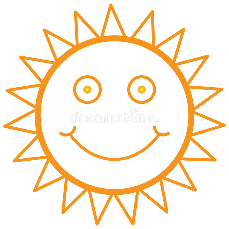 Download Smiley sun stock vector. Image of creative, picnic, nature - 24241674