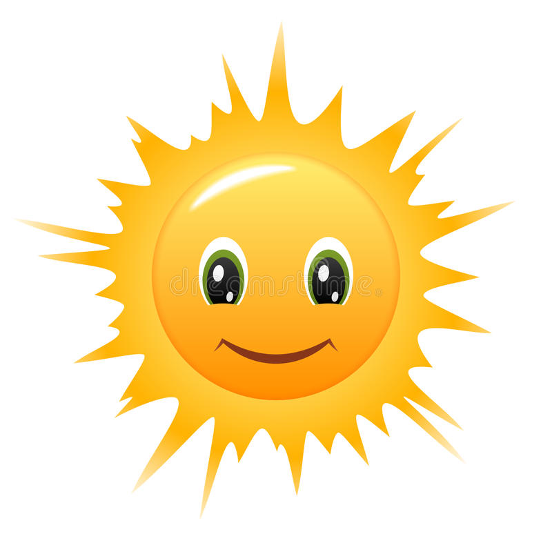 Download Smiley Sun. Vector icon stock vector. Image of smile - 19325417