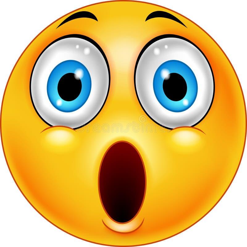 Smiley surpreendido do emoticon ilustração stock