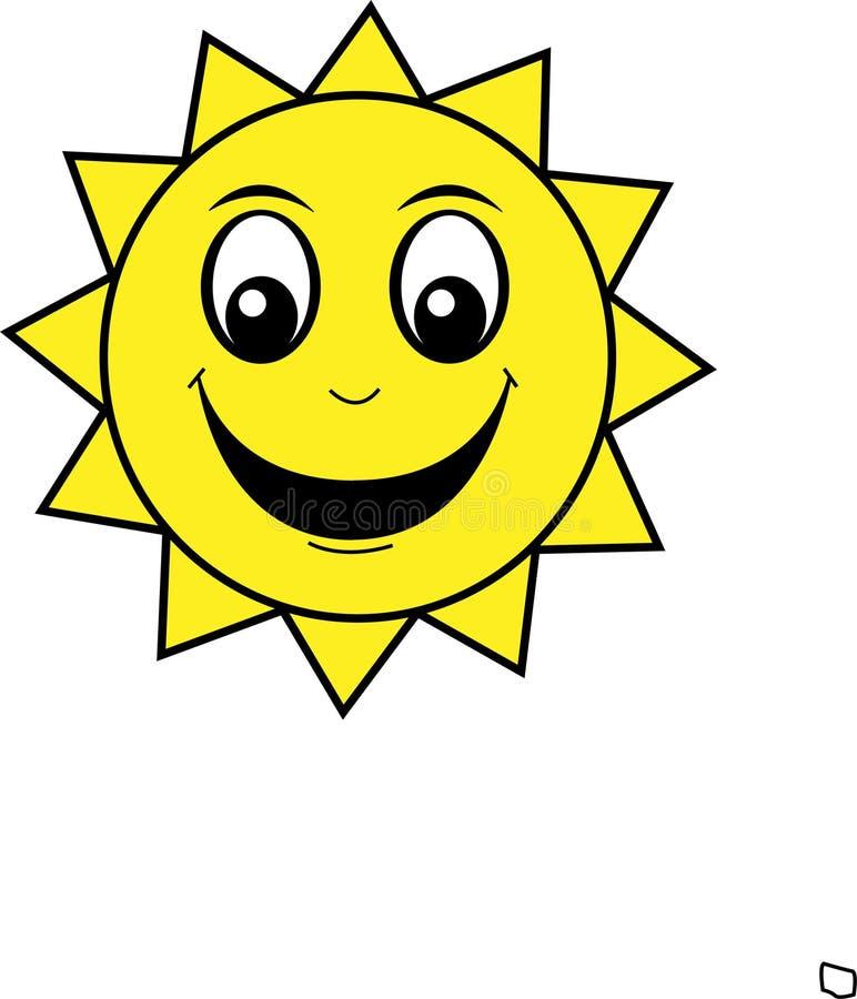 smiley szczęśliwy słońce royalty ilustracja