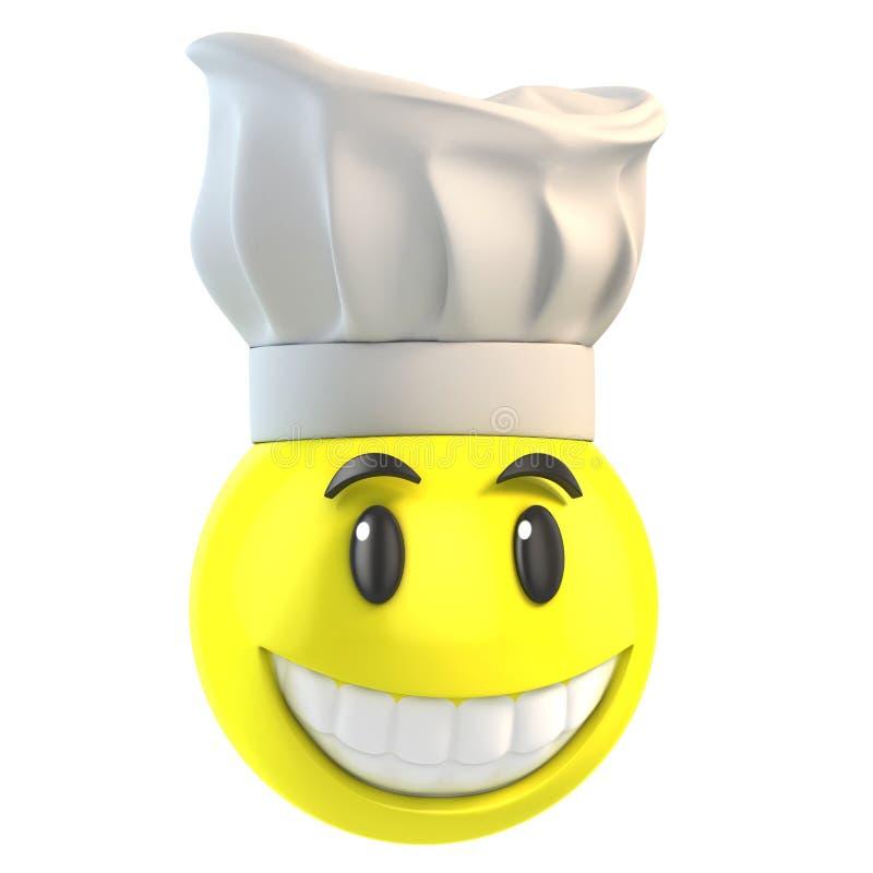 Smiley szef kuchni ilustracja wektor