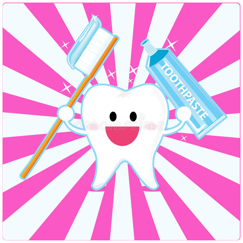 Download Smiley tooth stock vector. Illustration of blue, paste - 18559655