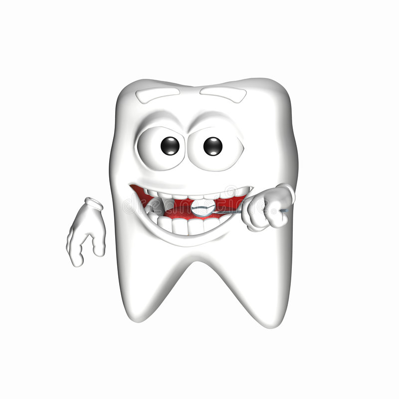Download Smiley Tooth - Mirror stock illustration. Illustration of crown - 5309151