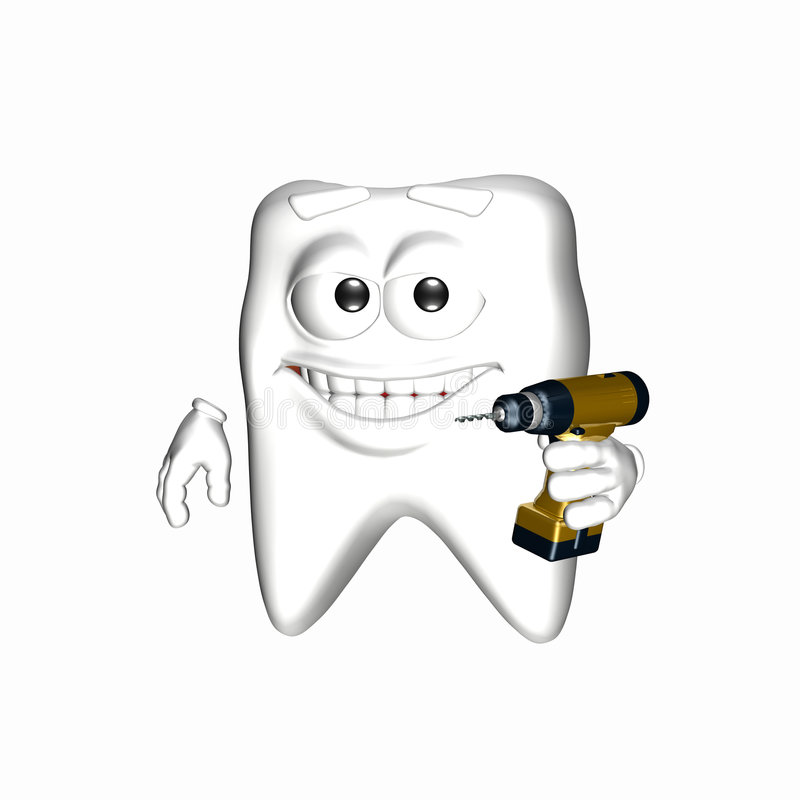 Download Smiley Tooth - Ready To Drill Royalty Free Stock Image - Image: 5309156
