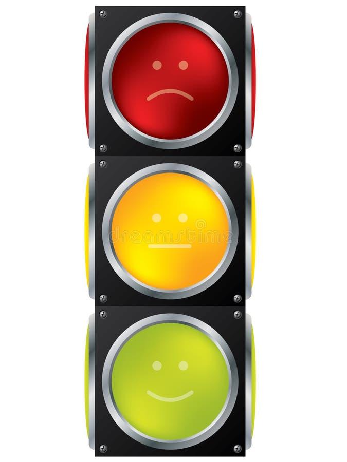 Smiley traffic light design stock illustration