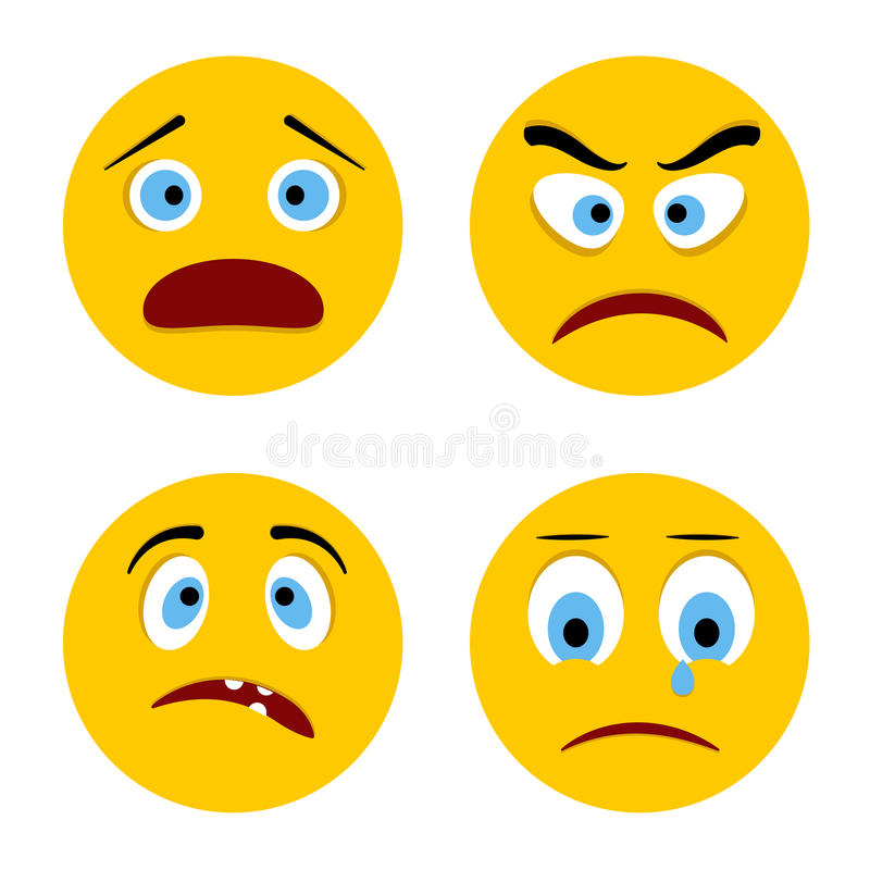 Smiley triste illustration de vecteur