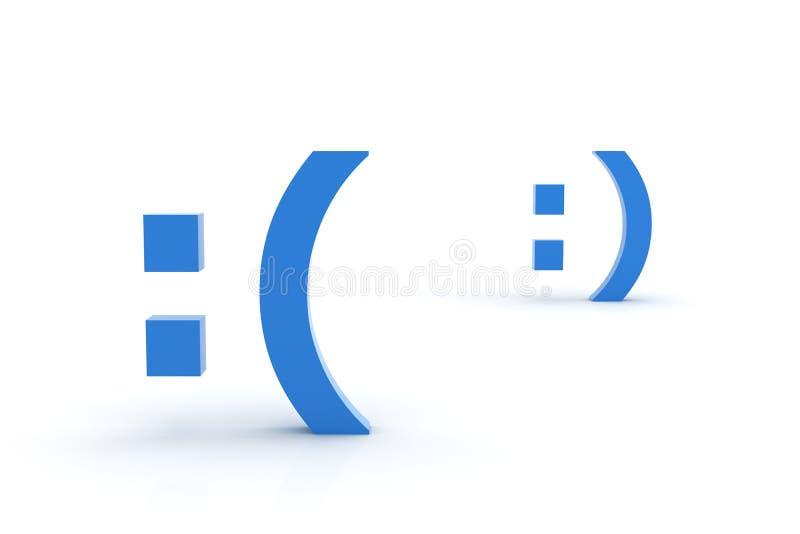Smiley triste e felice fotografie stock libere da diritti