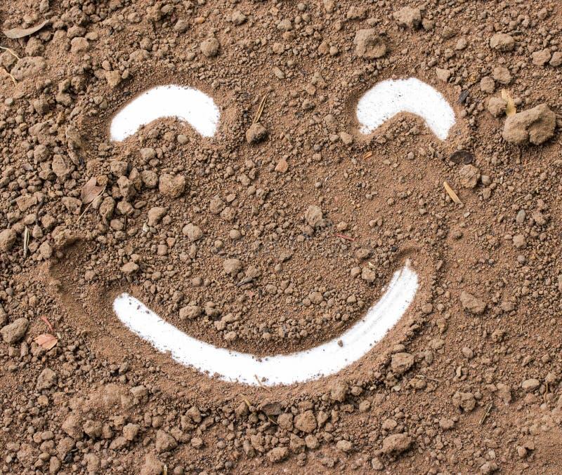 Smiley twarz w brudzie obraz royalty free