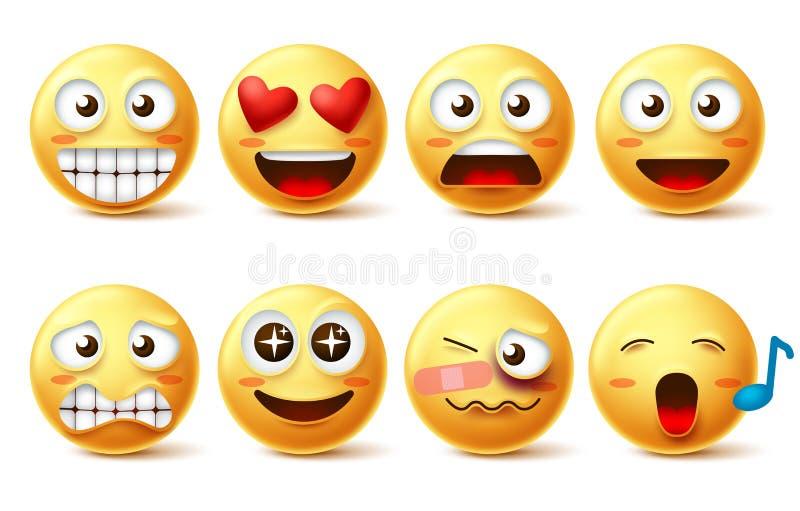 Smiley twarz wektoru set Smileys emoticons z, ikony i, ilustracji