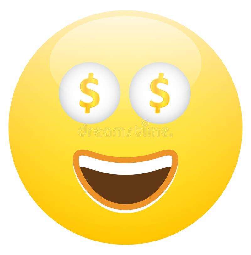 Smiley twarz Z gotówką ilustracji