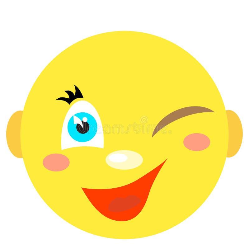Smiley uśmiechy i mrugnięcia ilustracji