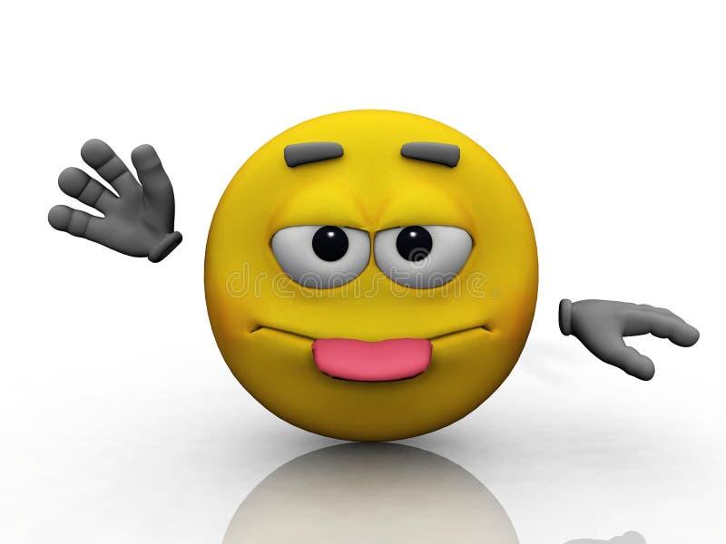 Smiley und die zunge stock abbildung illustration von