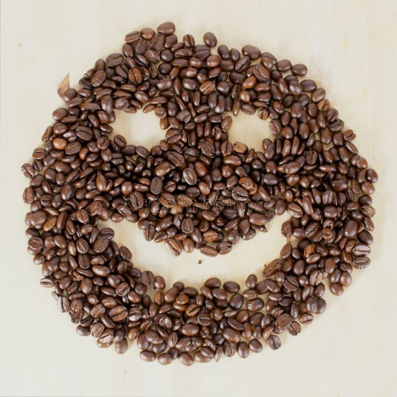 Smiley van de koffie royalty-vrije stock foto