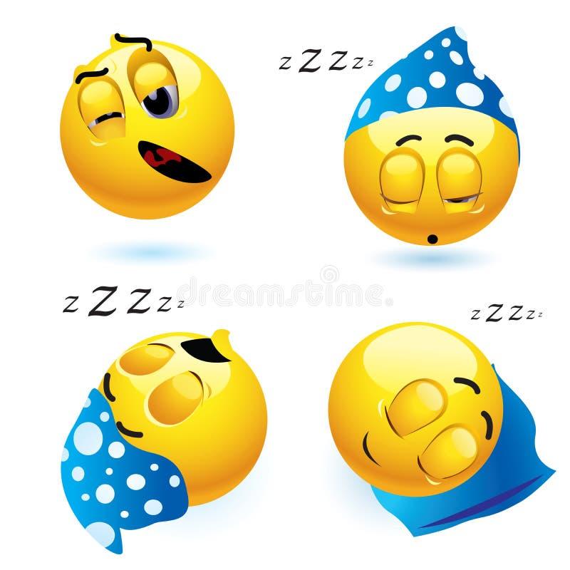 Smiley van de slaap stock illustratie