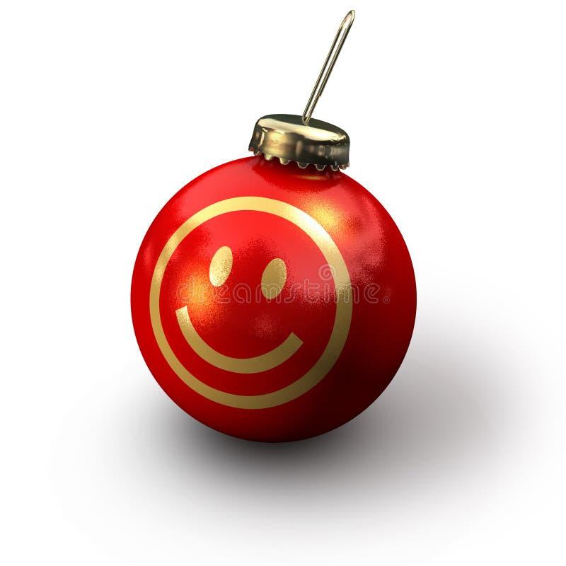 Smiley van Kerstmis stock illustratie