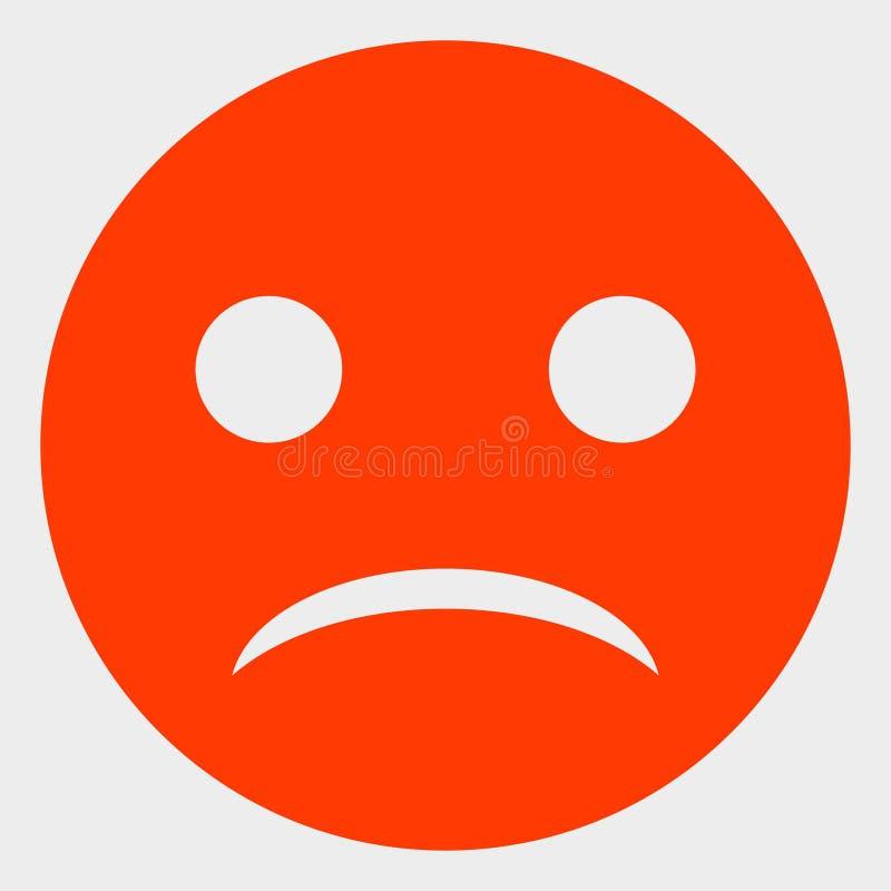 Smiley Vector Icon Illustration triste illustration de vecteur
