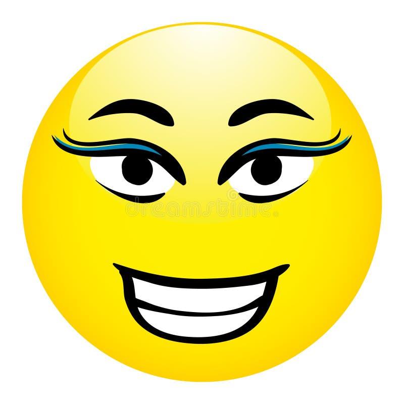Smiley Vector Illustration - Lady Face stock illustration