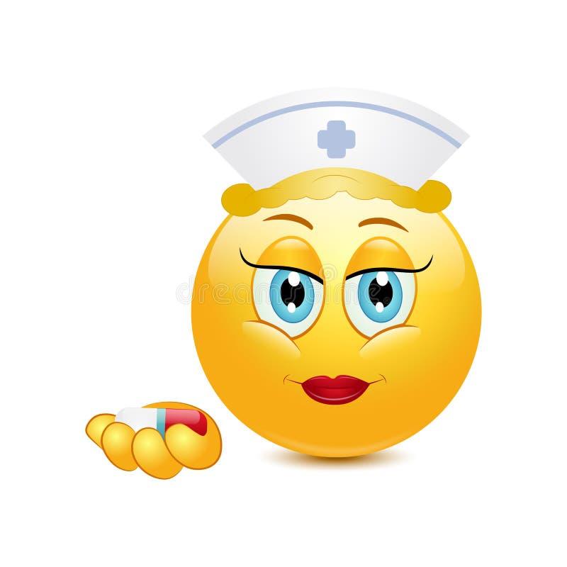 Smiley Vector Illustration Nurse. Smiley Vector Illustration a Nurse vector illustration