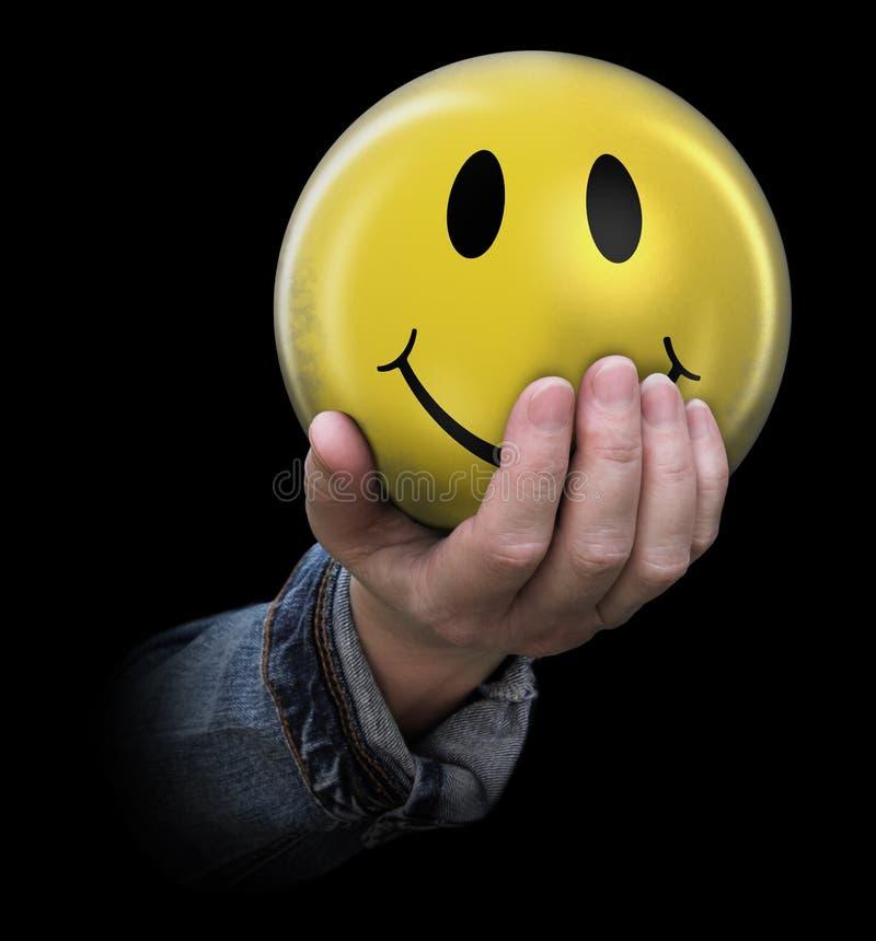 Smiley w ręce zdjęcie royalty free