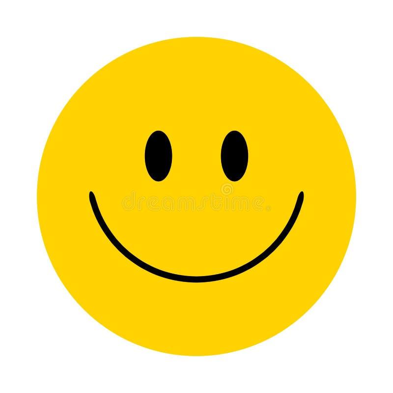 smiley Wektorowa szczęśliwa twarz obrazy royalty free