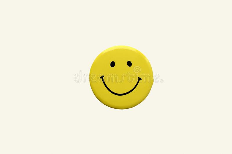 Smiley yellow color, smiling face, icon, three-dimensional image stock images