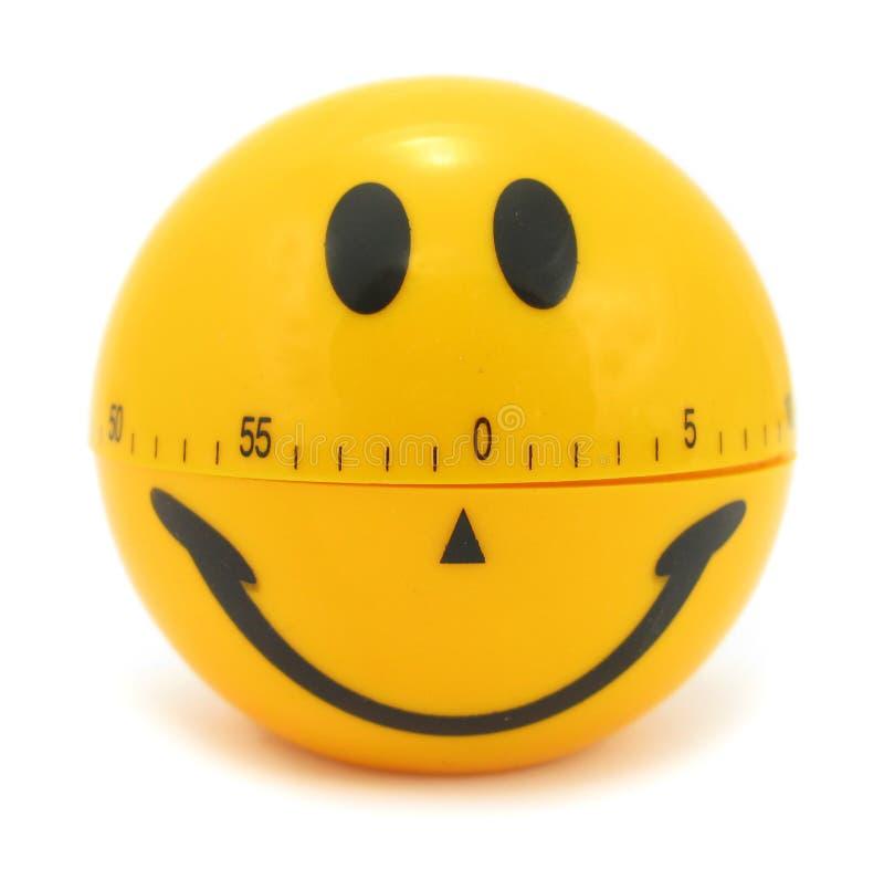 Smiley zegar fotografia royalty free