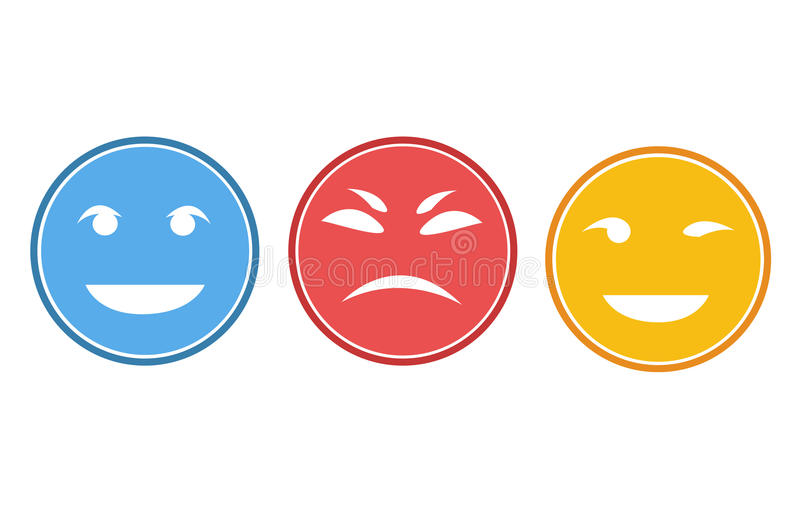 Smileyframsidor eller avataruppsättning arkivbild