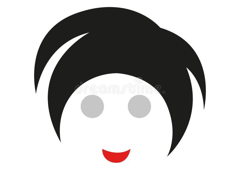 Smileygesicht eines lebhaften Charakters stock abbildung