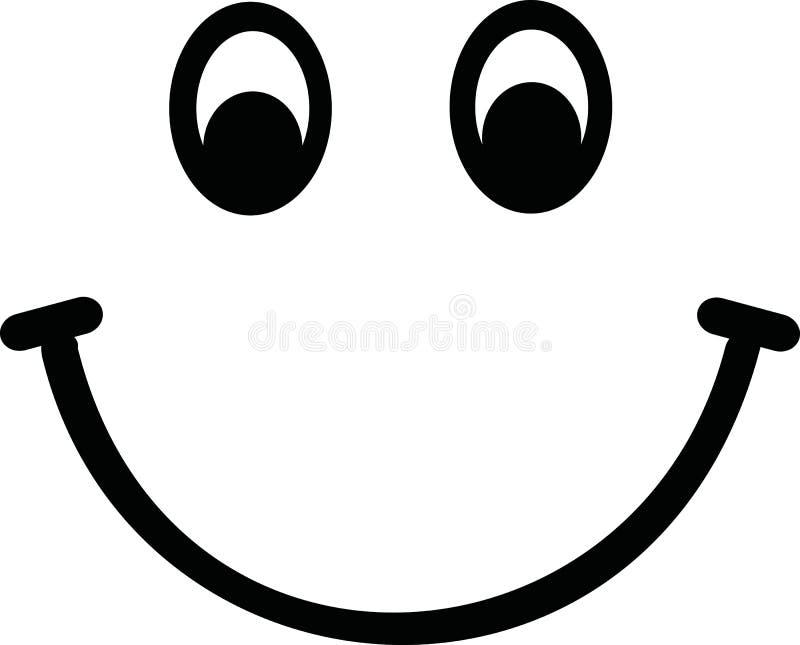 Smileygesichtsvektor stock abbildung