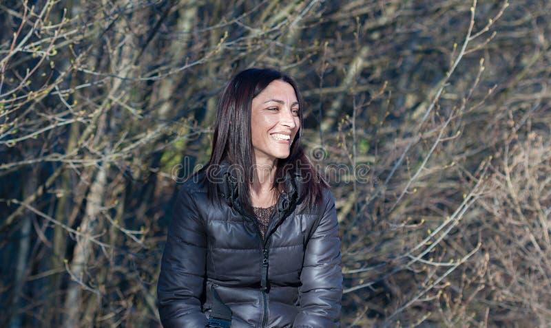 Smileygezicht van een mooi meisje royalty-vrije stock foto