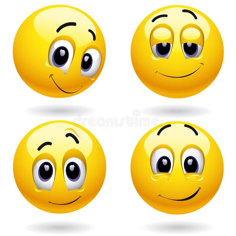 Smileykugel lizenzfreie abbildung