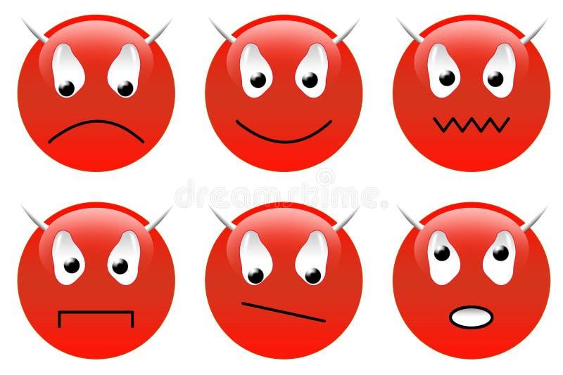 Download Smileys дьявола установленные Иллюстрация штока - иллюстрации насчитывающей запутанность, дьявол: 6857518