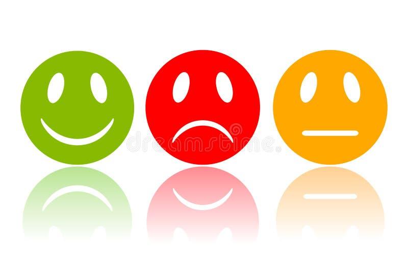 Smileys реакции бесплатная иллюстрация