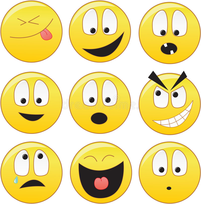 smileys royaltyfri illustrationer