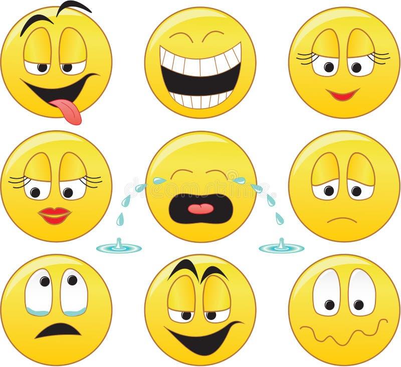 smileys vektor illustrationer