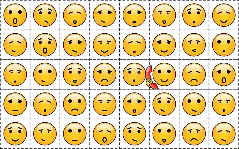 Smileys vector illustratie