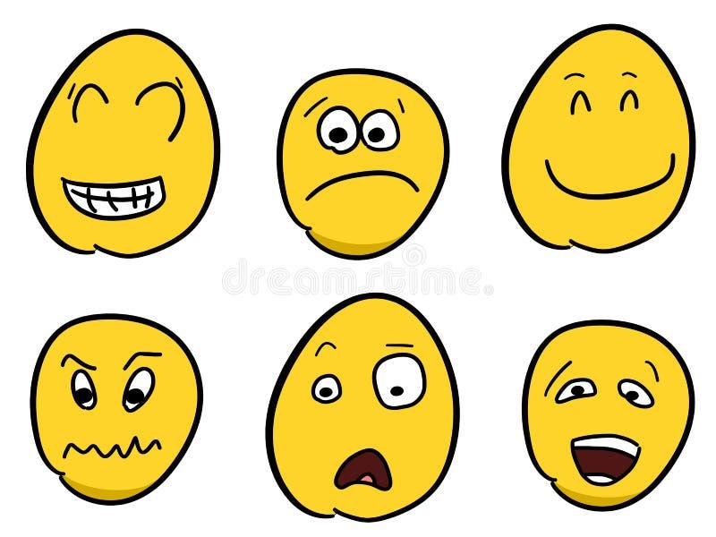 Smileys stock illustratie