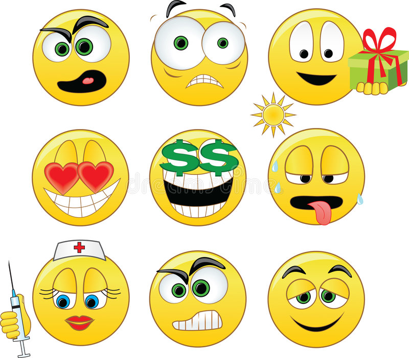 Smileys royalty free illustration