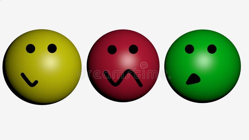 smileys 3d stock illustrationer