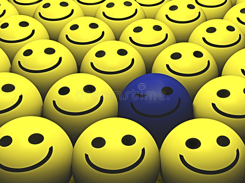 Smileys stock illustratie